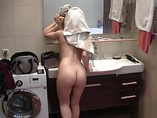 Sexy Rebecca - Hidden spy camera in bathroom