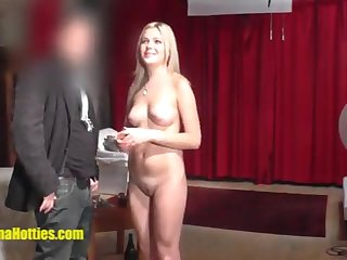 The blond relaxes with a massage at their way first audition