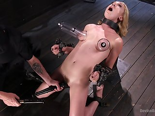 Brave Lily Labeau want roughly try all sex machines and BDSM games