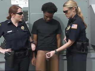 Voyeur Criminal Sexually Used By Dick Hungry Milf Cops