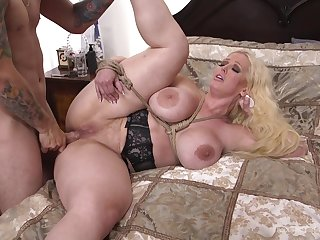 Foolhardy and busty Alura Jenson decides to try new way of sex appreciation