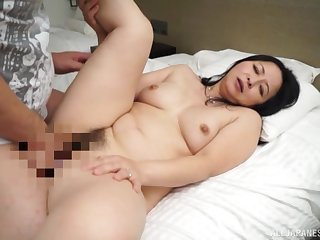 Japanese mom roughly fucked by their way step mom