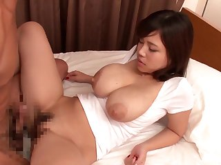 Busty Japanese swallows limitation acquiring her pussy hard pumped