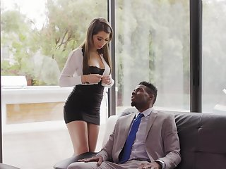 Beautiful white enchase Joseline Kelly gets her anus holed by insidious boss