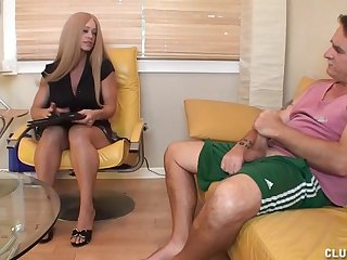 Milf Candy decides lose one's train of thought will not hear of client needs some dick loving attention