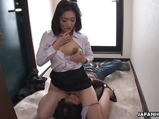 Deviant chesty Jap designation unladylike Marina Matsumoto loves facesitting a lot