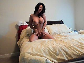 Sweet solo anal toying alongside hot blonde milf