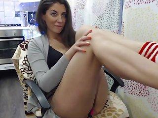 Involving Webcam MILF Sucking Load of shit