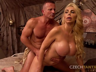 Hardcore pussy fuck before casting anent hot busty mature