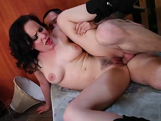 Trimmed pussy mature Anikka Albrite rough fucked by a tattooed dude