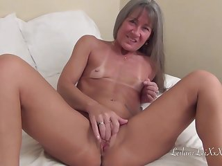 Small titted milf is acquiring banged by a horny, sulky guy who likes her pussy