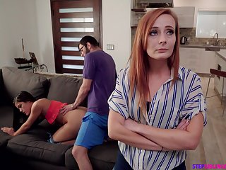 Nympho Kendra Spade seduces stepbrother in front of stepmom