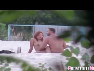 Nudists Intercourse On The Seashore