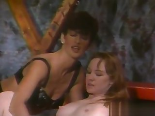 Super-Tanned Victorian Dark Bush Sharon Mitchell - Leather Bound Dykes Unfamiliar Hell Part 4 (Clip) (1994)