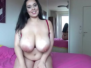 Anastasia Lux is proudly showing her big milk jugs and enjoying in the long run b for a long time bringing off with them