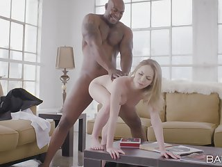 Black man's monster dig up suits this blonde in perfect XXX