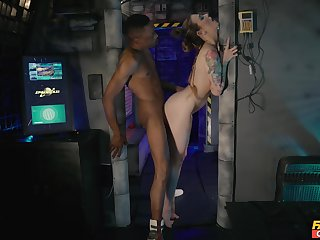 Astute interracial during kinky bush-league role play