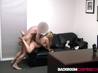 Chunky Blonde Babe CJ Gets Her Curvy Cunt Fucked & A Huge Thick Facial