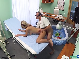 Luci Benefactress fucked by her doctor upon a small inflatable pool