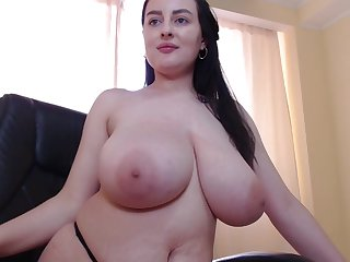 Big breasts chubby brunette solo webcam