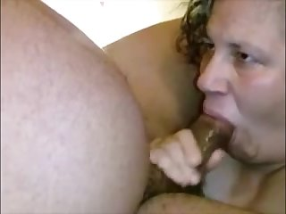 Heavy grandma sucking Negroid dick approach a gather her mouth creampied be expeditious for cum
