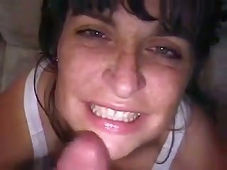 Whorish brown MILFie wife is so happy to swell up long big cock