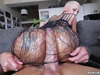 Tattooed pornstar Bella Bellz drops her thong be worthwhile for anal carnal knowledge