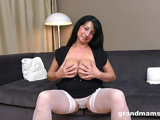 Busty mature wife gets photocopy penetrated wide of two handsome dudes