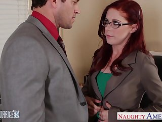 Career woman Penny Pax is making love to one of her co-workers