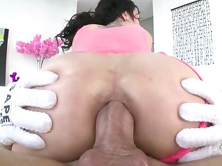 Tight butthole of brunette about tattoos craves a changeless penis