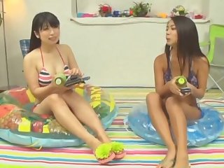 Japanese FFM threesome with Mei Matsumoto with natural tits